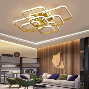 Acylic Ceiling Lights Square Rings