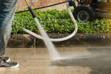 Using modern and effective cleaning pressure washers and other tools to clean all outdoor surfaces.